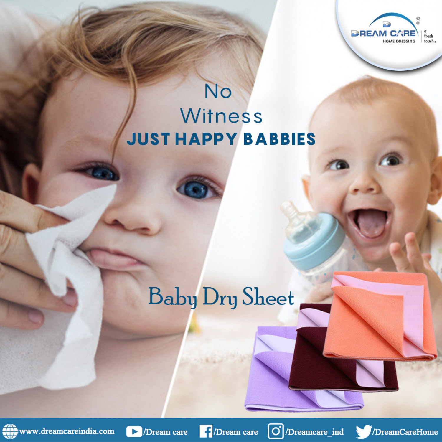 Baby dry Sheets Infographic
