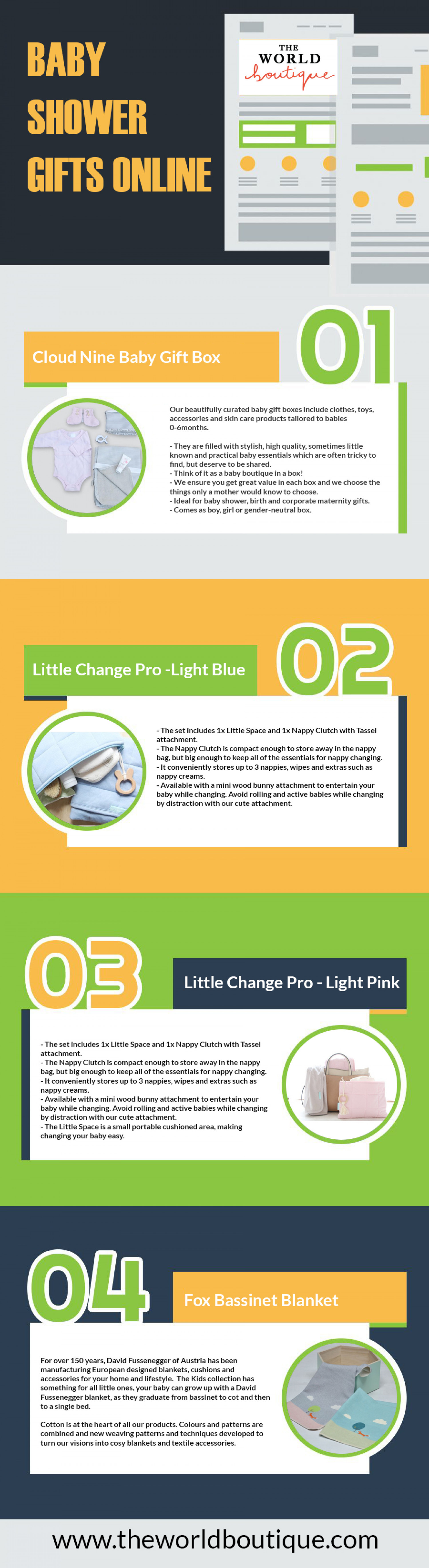 Baby Shower Gifts Online Infographic