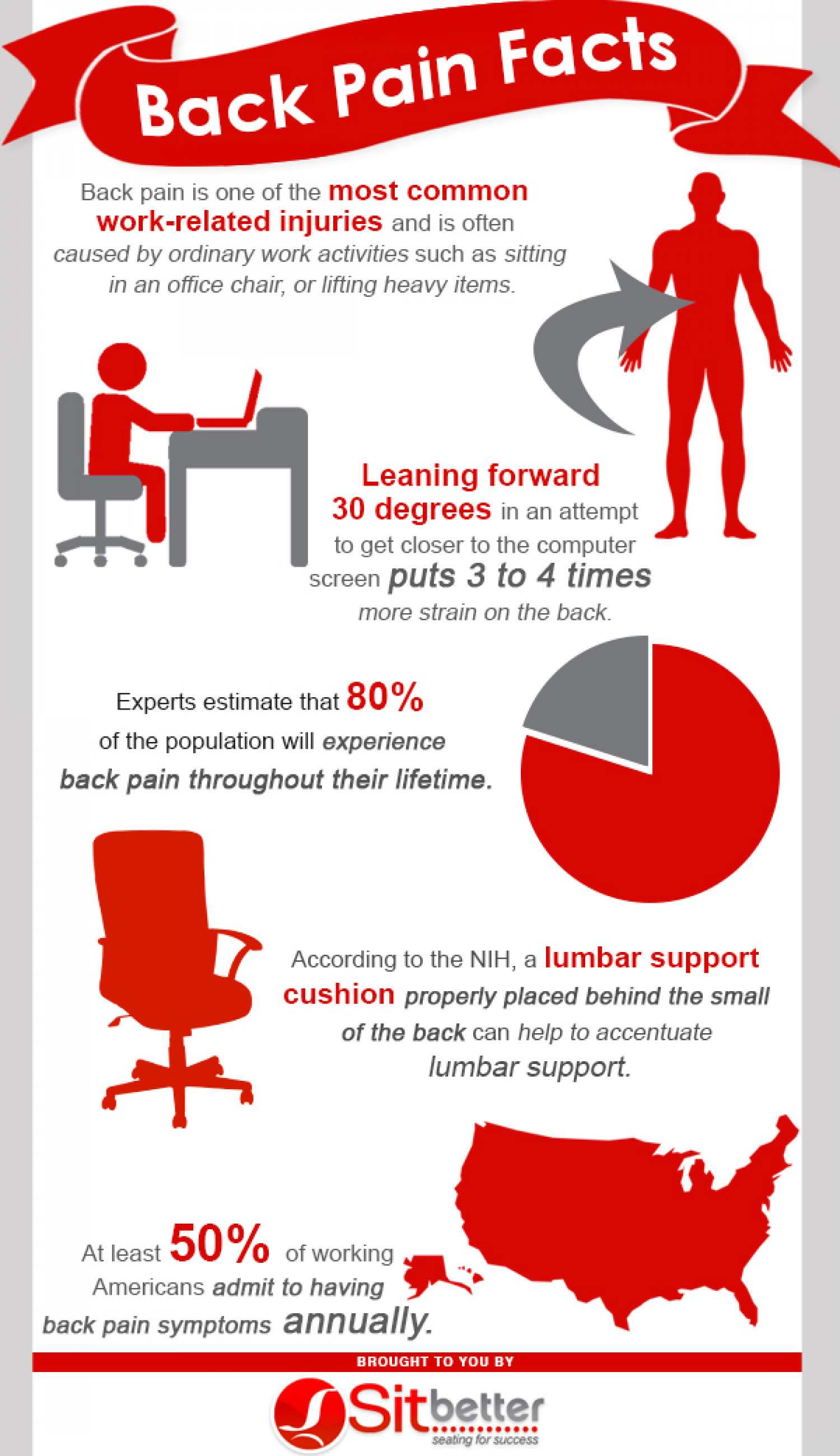Back Pain Facts Infographic