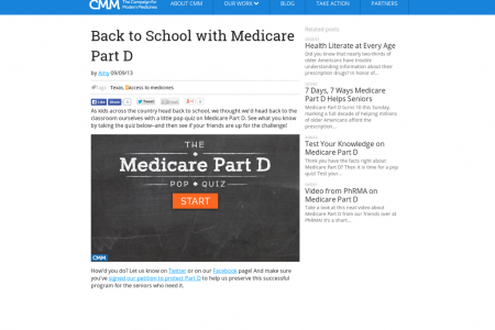 Back to School with Medicare Part D Infographic