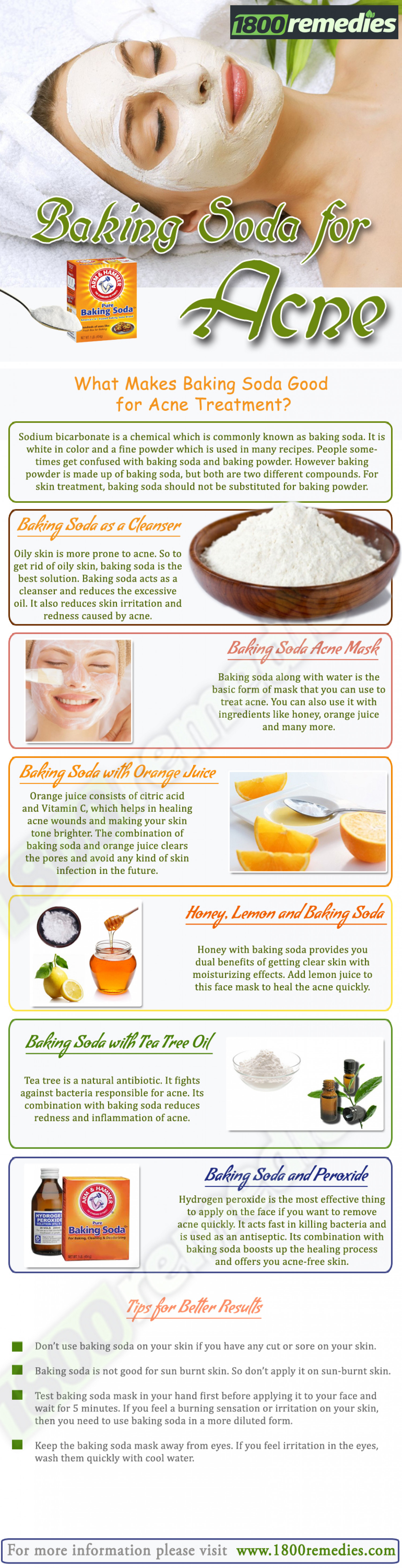 Baking Soda for Acne Treatment Infographic