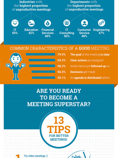 Banish meeting boredom: 13 tips for better meetings Infographic