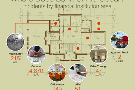 Bank Crime in the USA Infographic