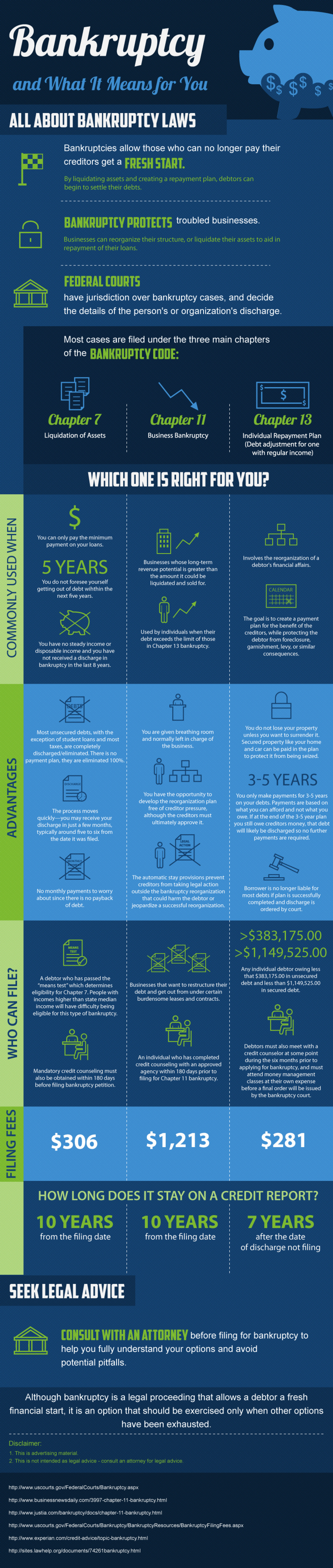 Bankruptcy and What It Means for You Infographic