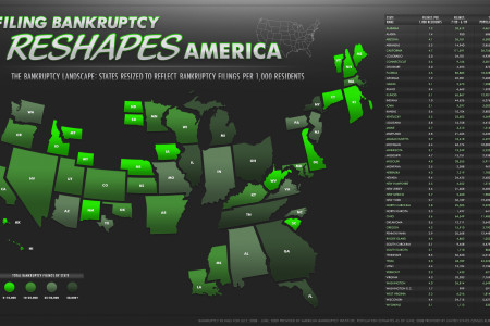 Bankruptcy Reshapes America Infographic