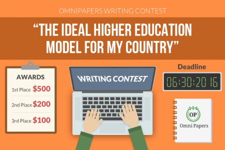 Banner for essay contest Infographic