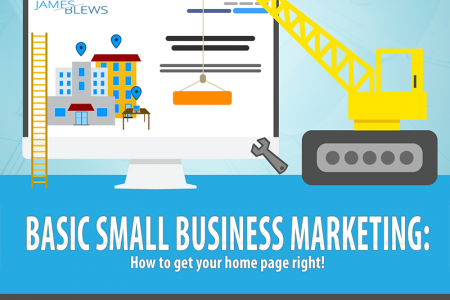 Basic Small Business Marketing: How to get your website's home page right! Infographic