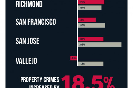 Bay Area Violent And Property Crimes Infographic