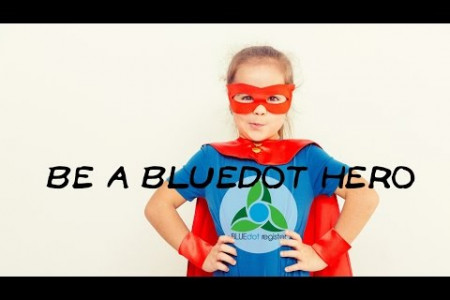 Be a BLUEdot Hero - Making Change Personal Infographic