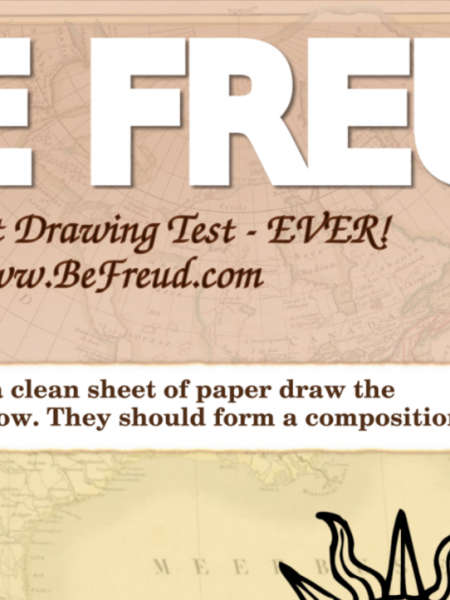 Be Freud - The Coolest Psychology Drawing Test Ever Infographic