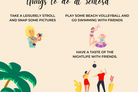 Beach bars and beach sports: 3 things to do at Sentosa Infographic