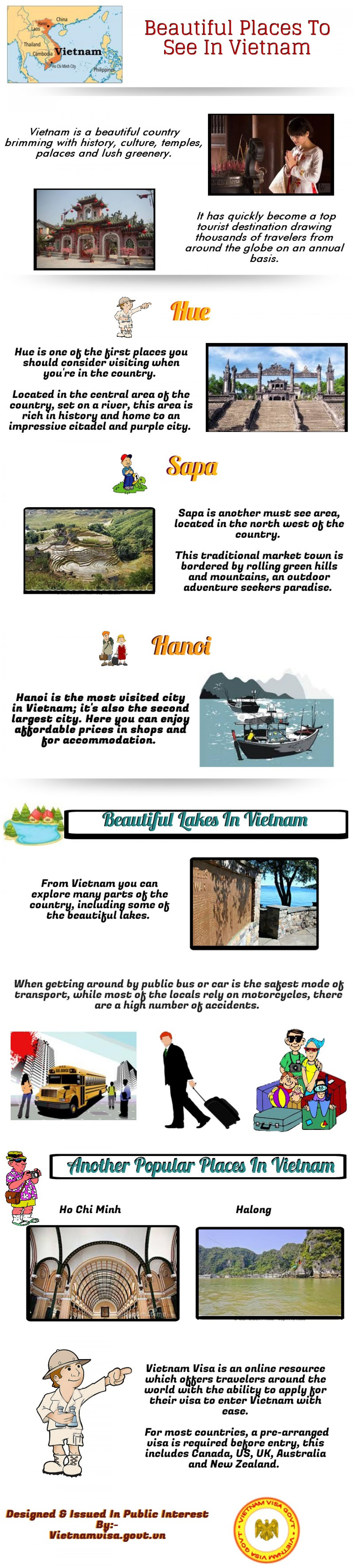 Beautiful Places To See In Vietnam Infographic