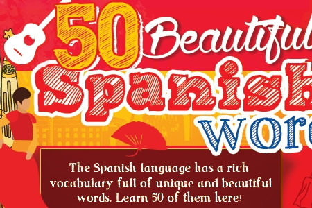 Beautiful Spanish Words That Will Put You in a Good Mood Infographic