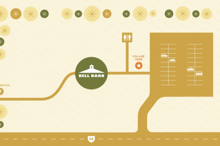 Bell Barn area map Infographic