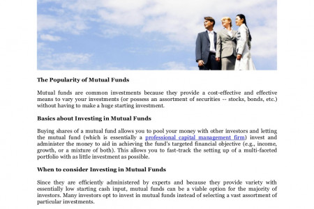 Bellmore Group Management Services, Tokyo Japan on Mutual Funds Infographic