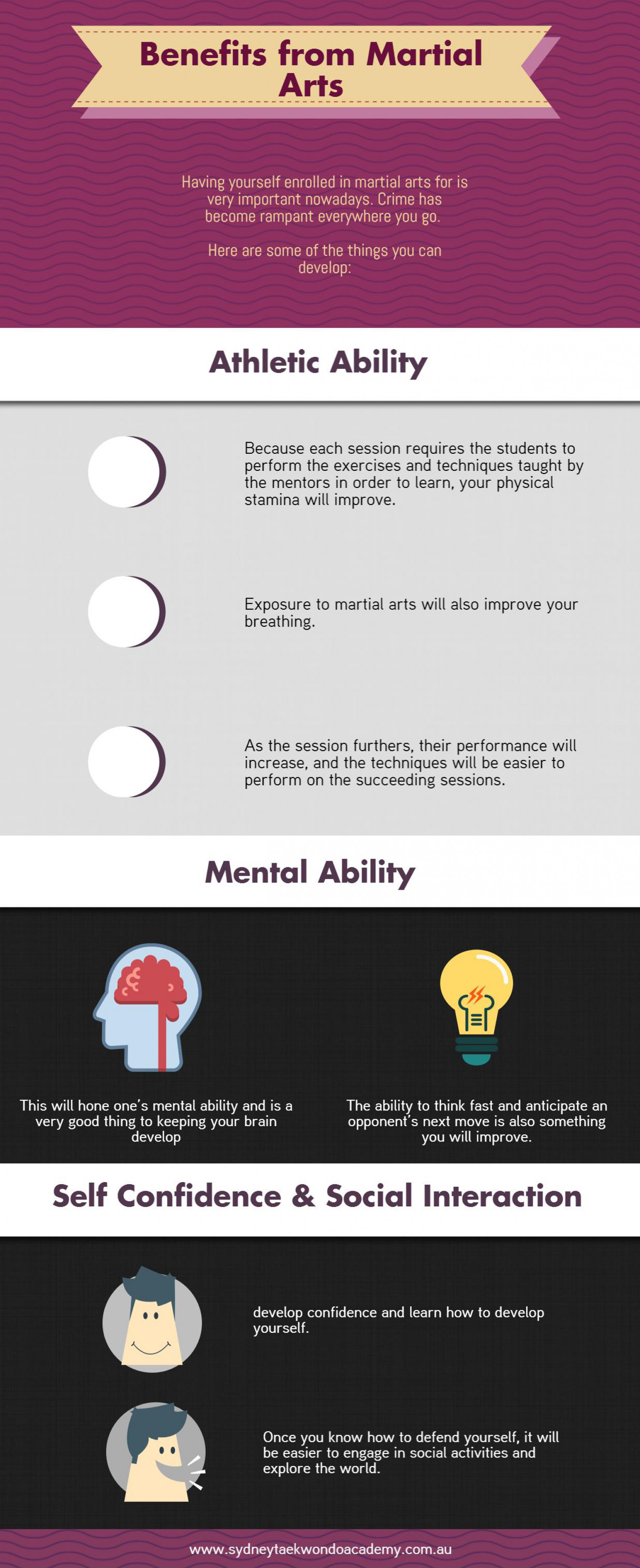 Benefits from Martial Arts Infographic