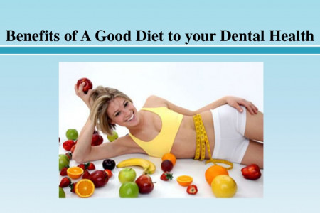 Benefits of A Good Diet to your Dental Health Infographic