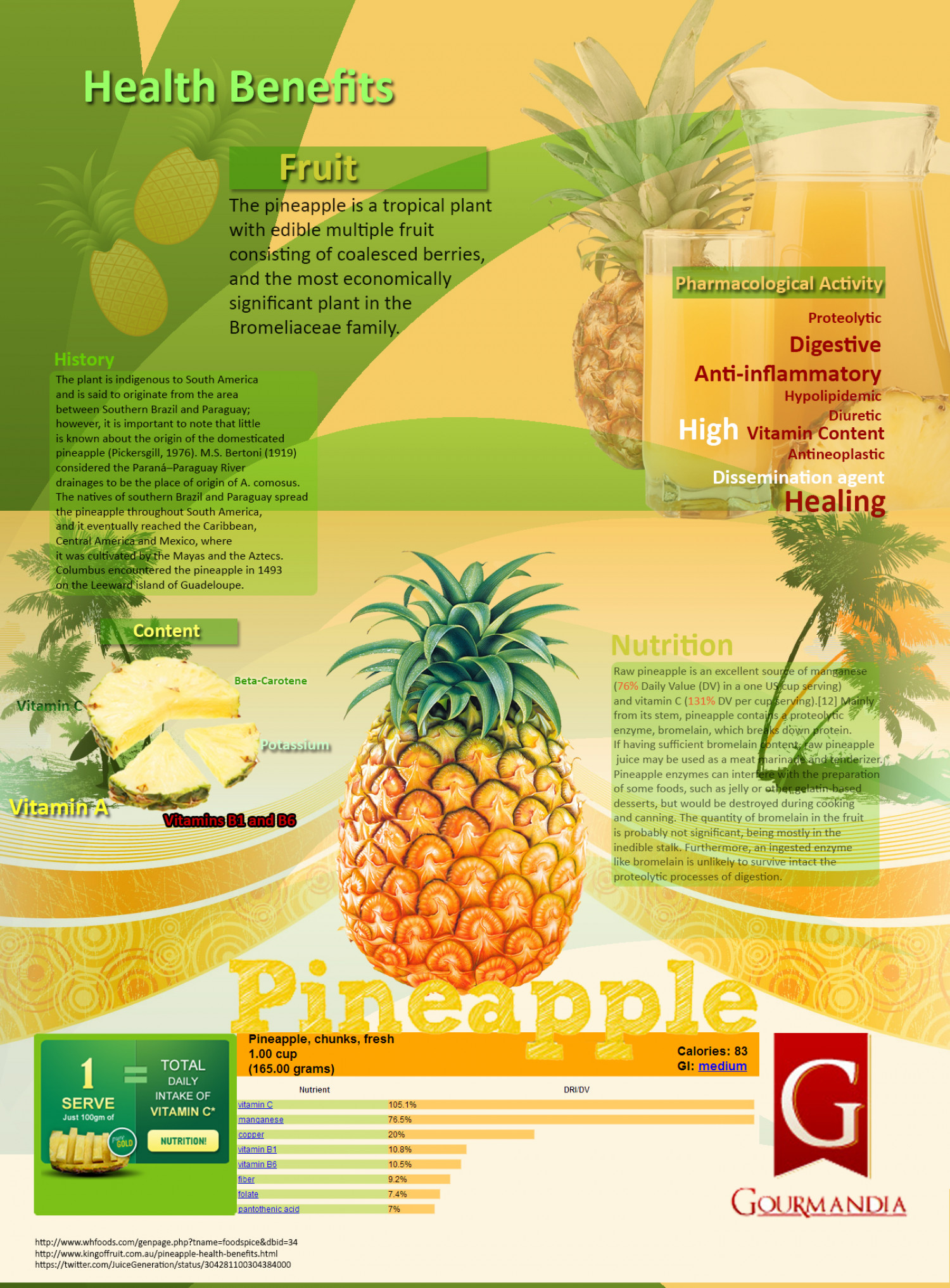 Benefits of a Pineapple Infographic
