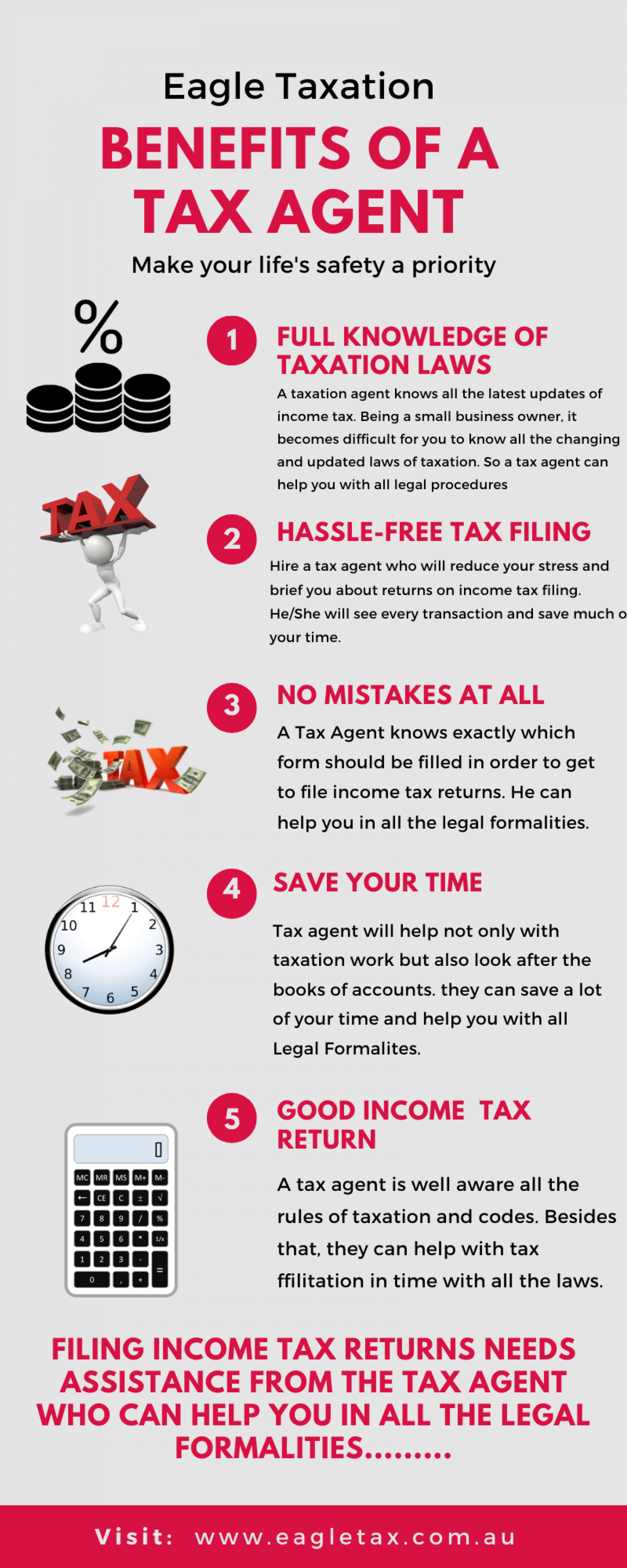 Benefits of a Tax Agent Infographic