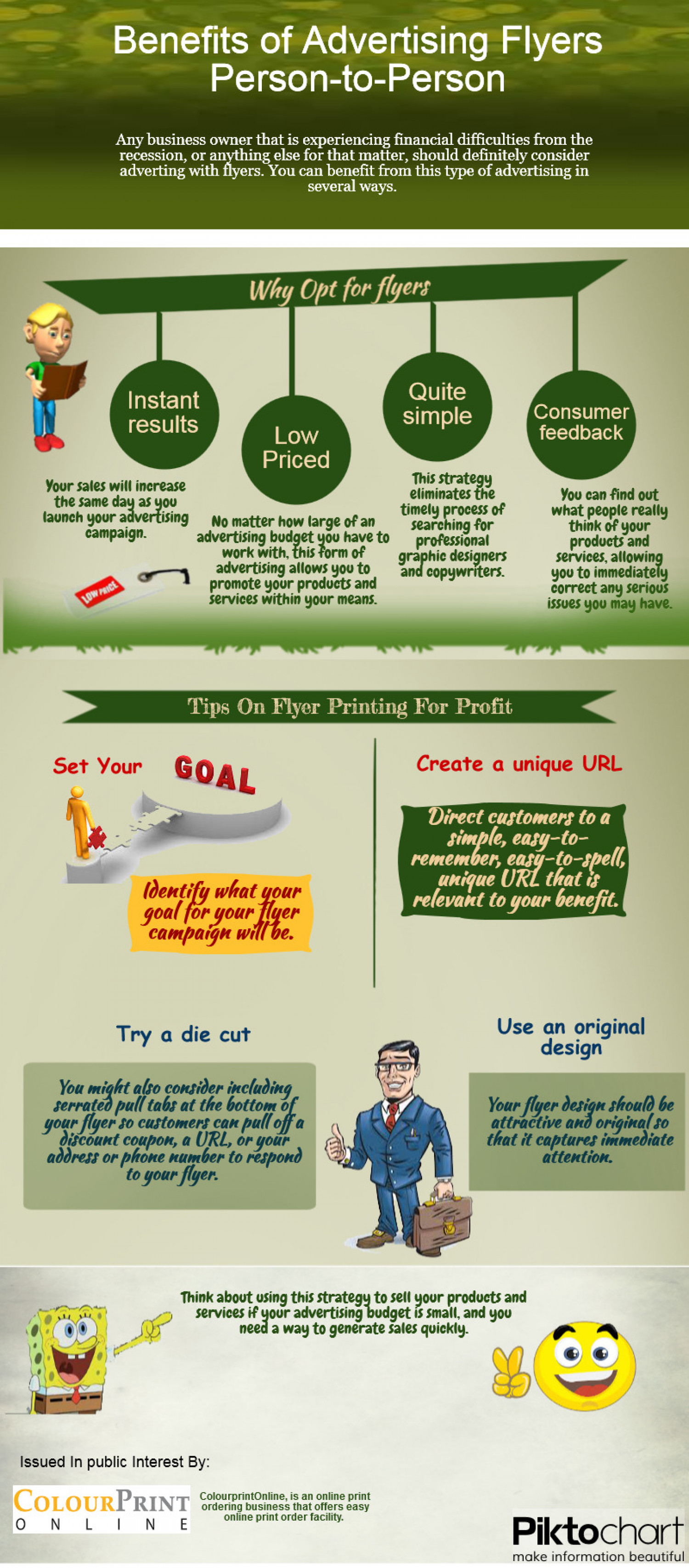 Benefits Of Advertising Flyers Person To Person Infographic