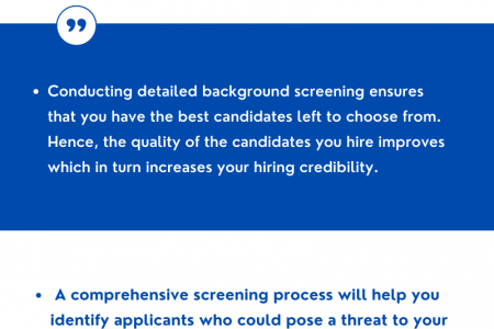 Benefits of background verification Infographic