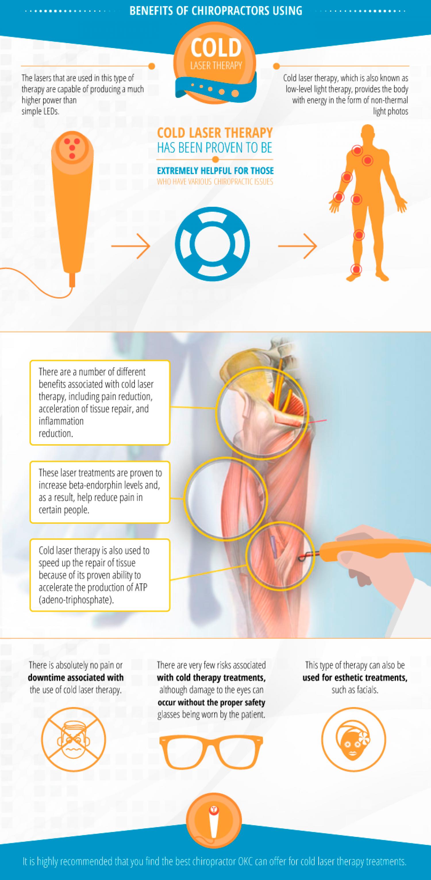 Benefits of Chiropractors Using Cold Laser Therapy Infographic