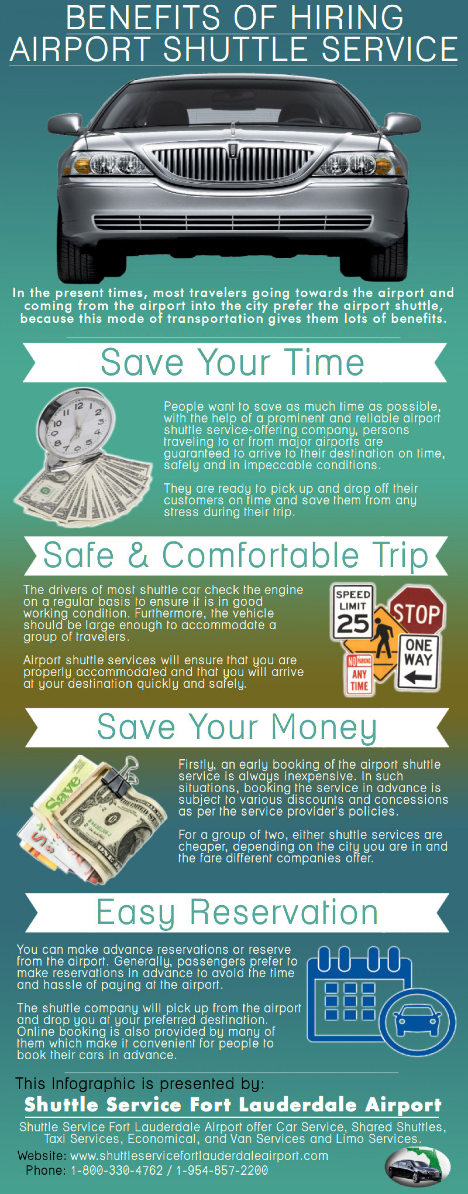 Benefits Of Hiring Airport Shuttle Service Infographic