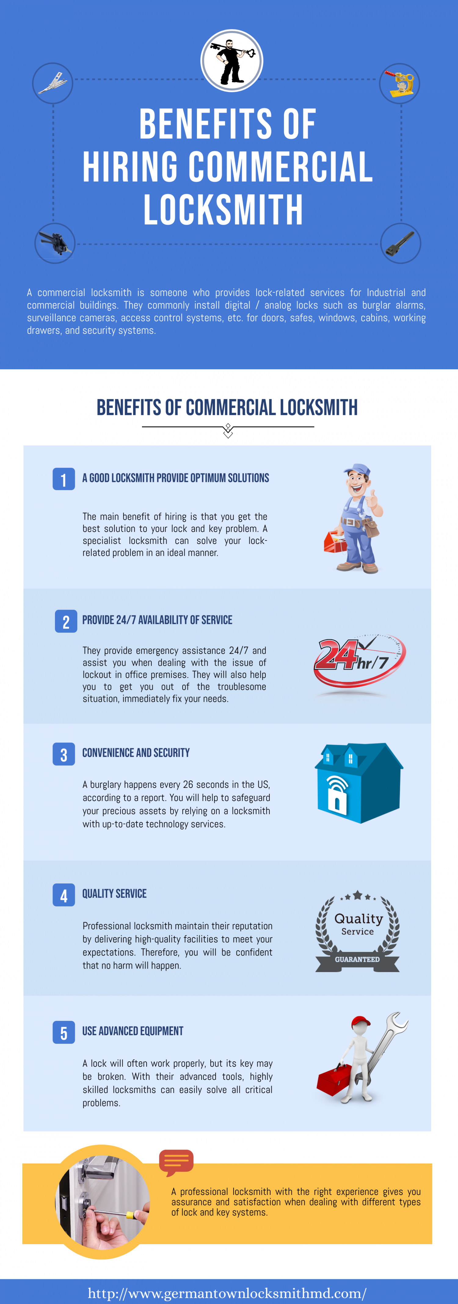 Benefits of Hiring Commercial Locksmith  Infographic