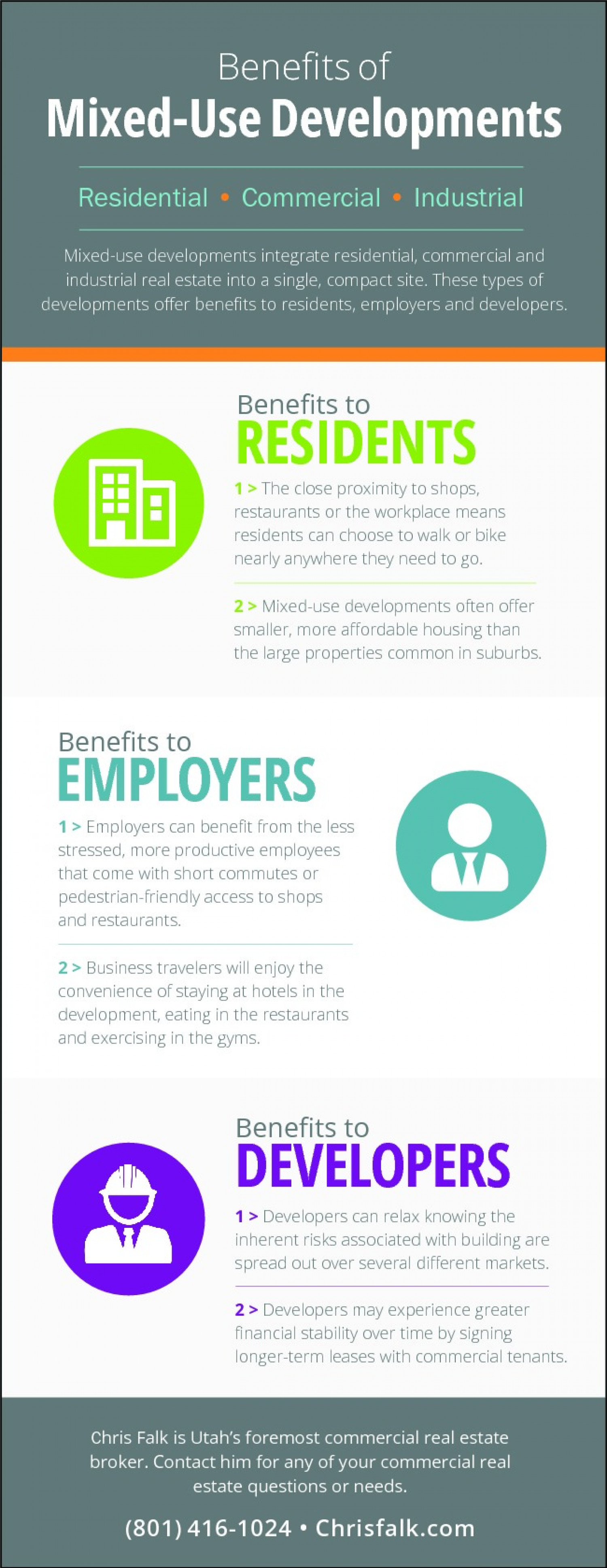 Benefits of Mixed-Use Developments Infographic