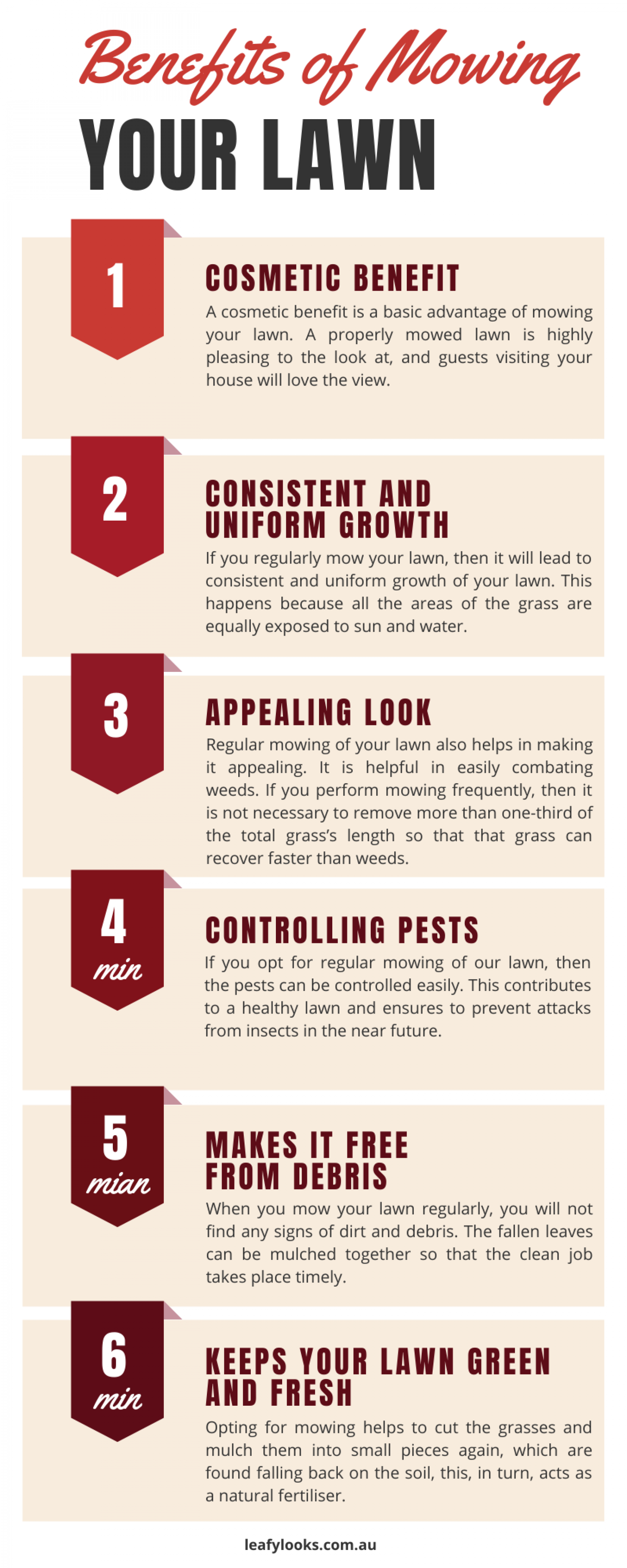 Benefits of Mowing Your Lawn Infographic