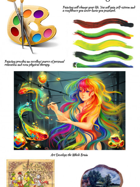 Fine Art Online/Benefits Of Painting Infographic