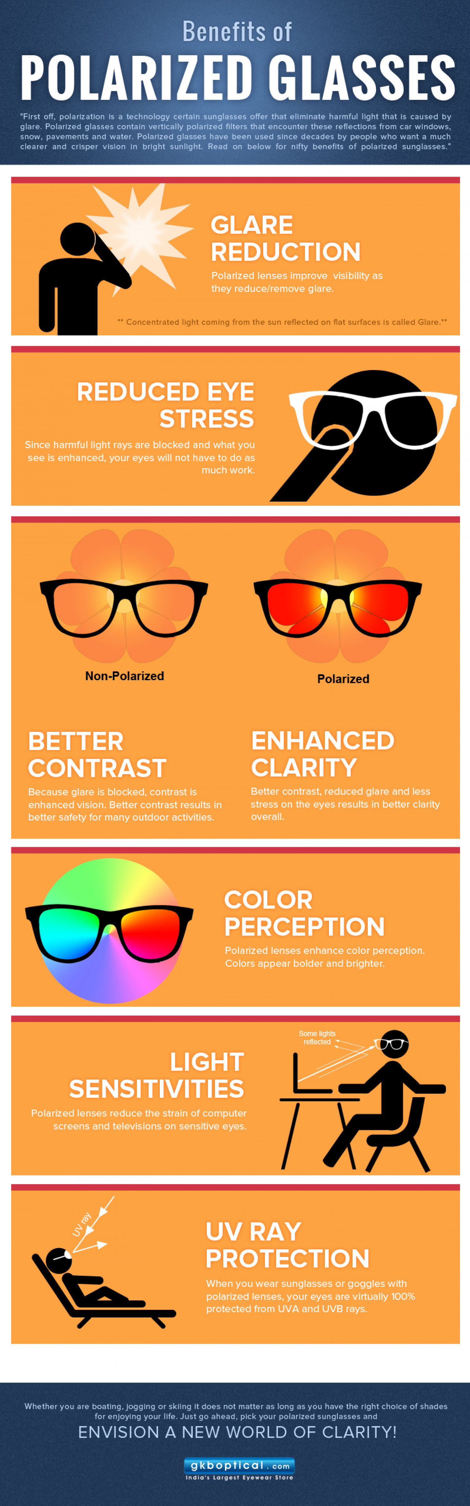 Benefits of Polarized Sunglasses Infographic
