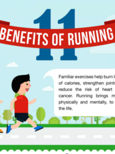Benefits of Running by Shoes Mark Infographic