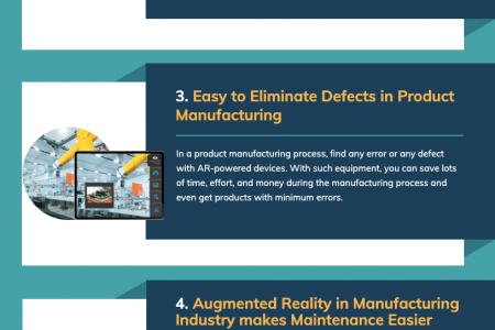 Benefits of Using Augmented Reality in Manufacturing and Production Infographic