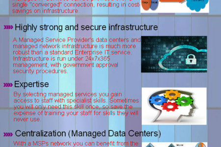 Benefits of using Managed IT Services Infographic