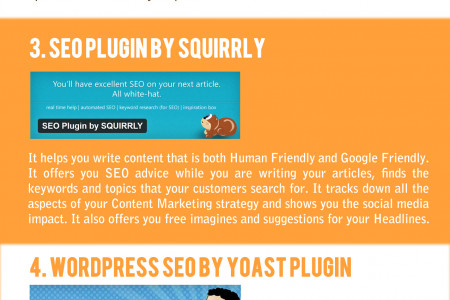Best 5 SEO WordPress Plugins [infographic] Infographic
