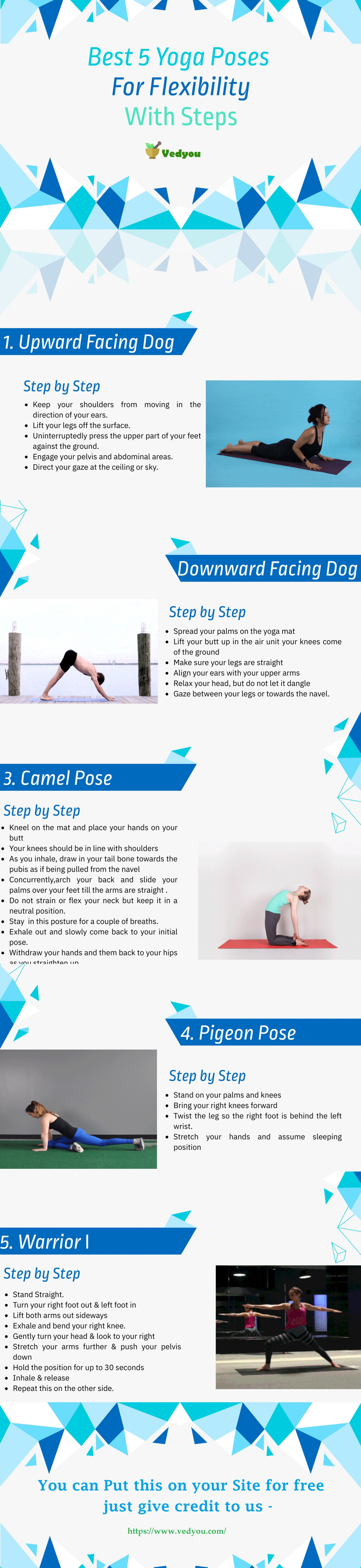 Best 5 Yoga Poses to increase Flexibility Infographic