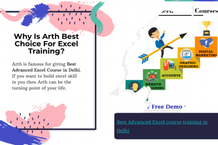 Best Advanced Excel Course in Delhi | Advanced Excel Course Fees in Delhi Infographic