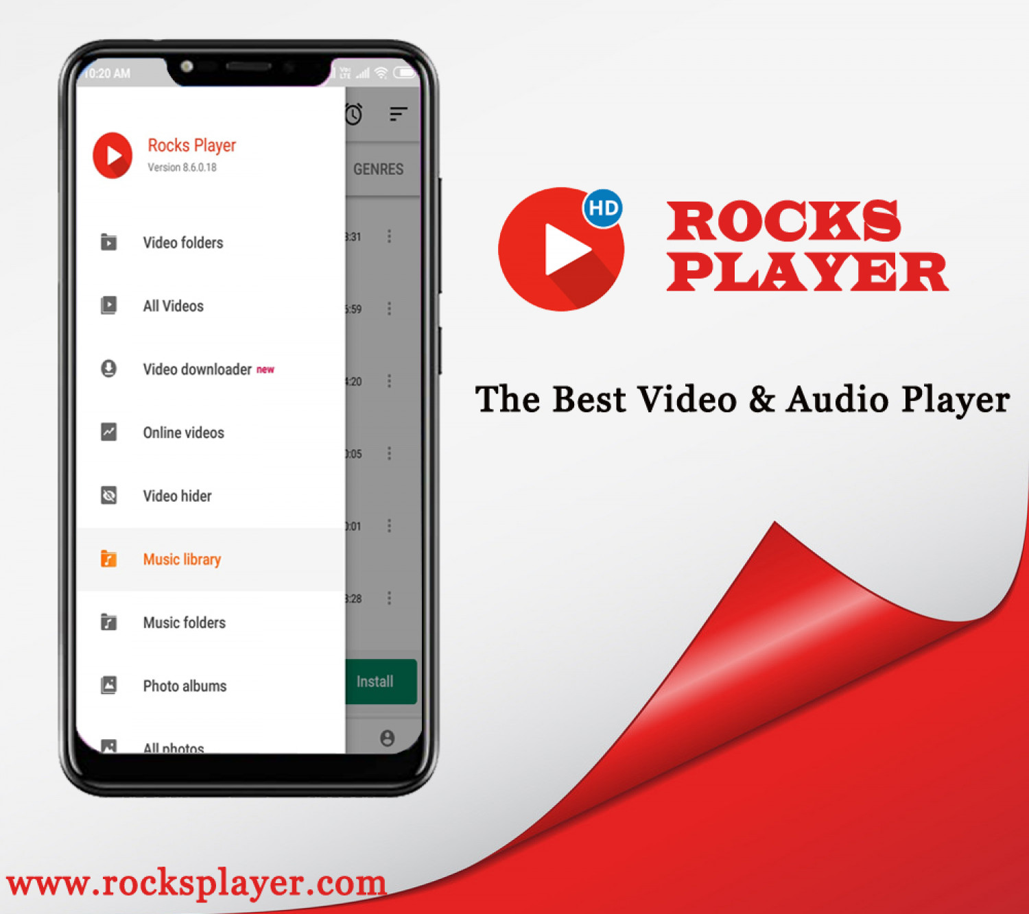 Best Audio & Video Player for Android  Infographic