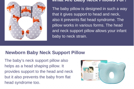 Best Baby Sleeping Pillow For Neck Support Infographic
