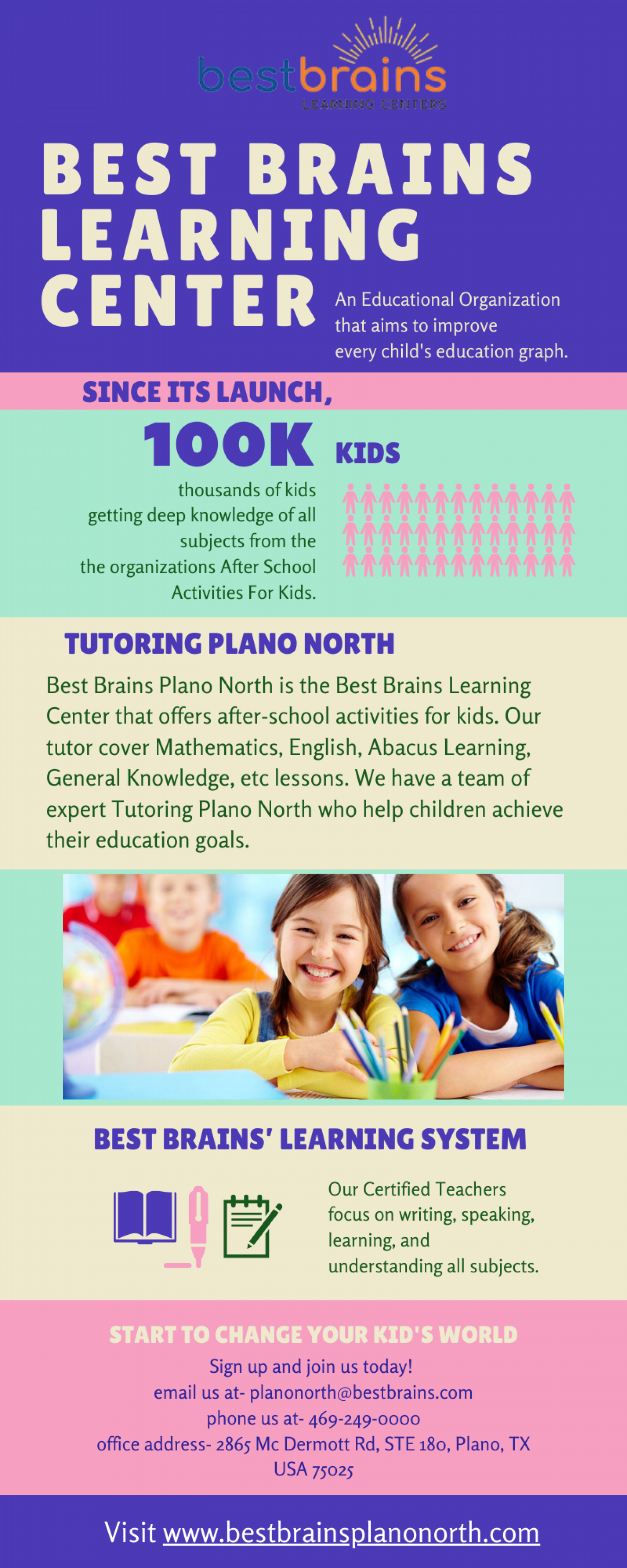 Best Brains Learning Center Infographic