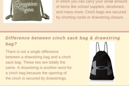 Best Cinch Sack Backpacks of 2020 Drawstring Bags for Gym Infographic