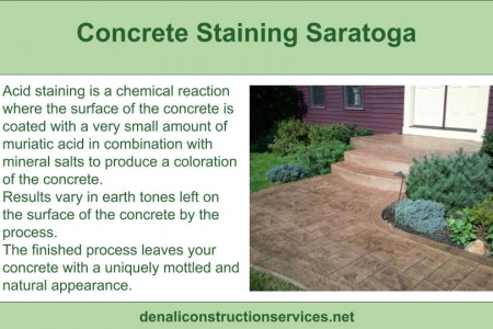 Best Concrete Staining Services in Saratoga Infographic