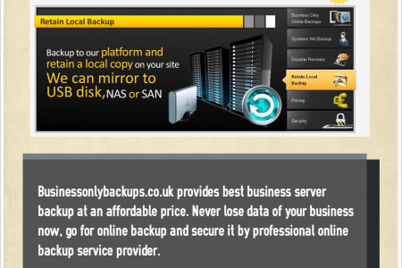 Best data solution - online backup Infographic