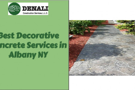 Best Decorative Concrete Services in Albany, NY Infographic