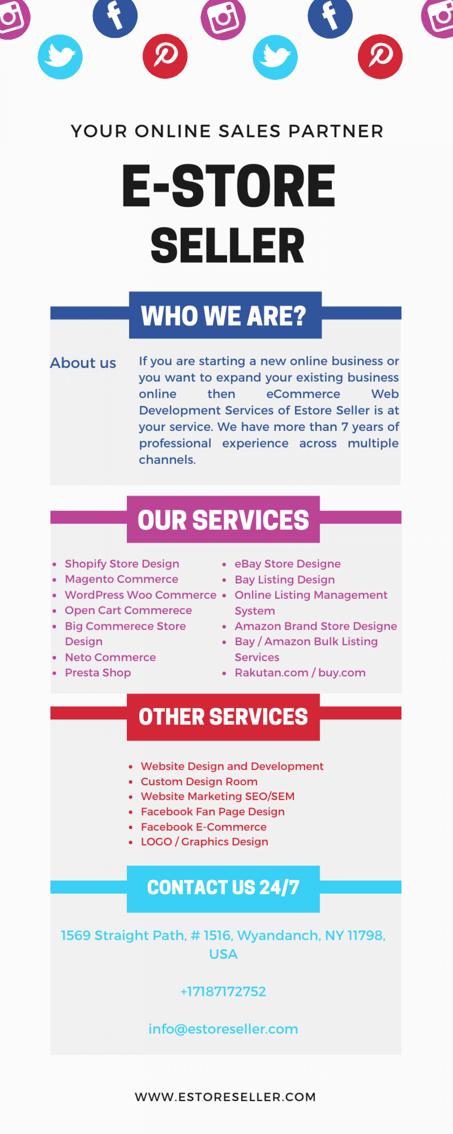 Best eCommerce and Web Development Services Provider Infographic