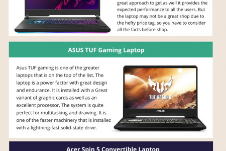 Best Laptop For Animation And Drawing Infographic