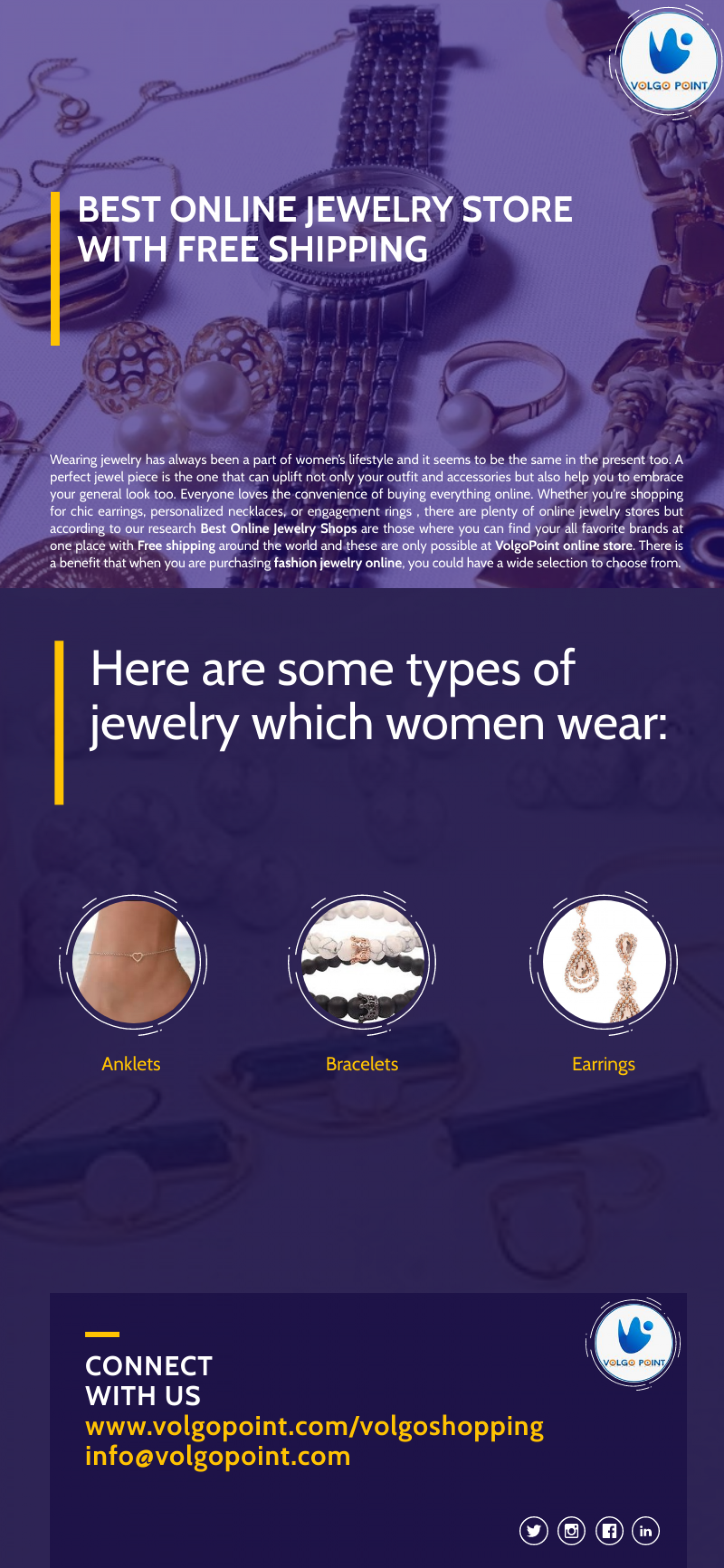 Best Online Jewelry Shops at volgopoint Infographic