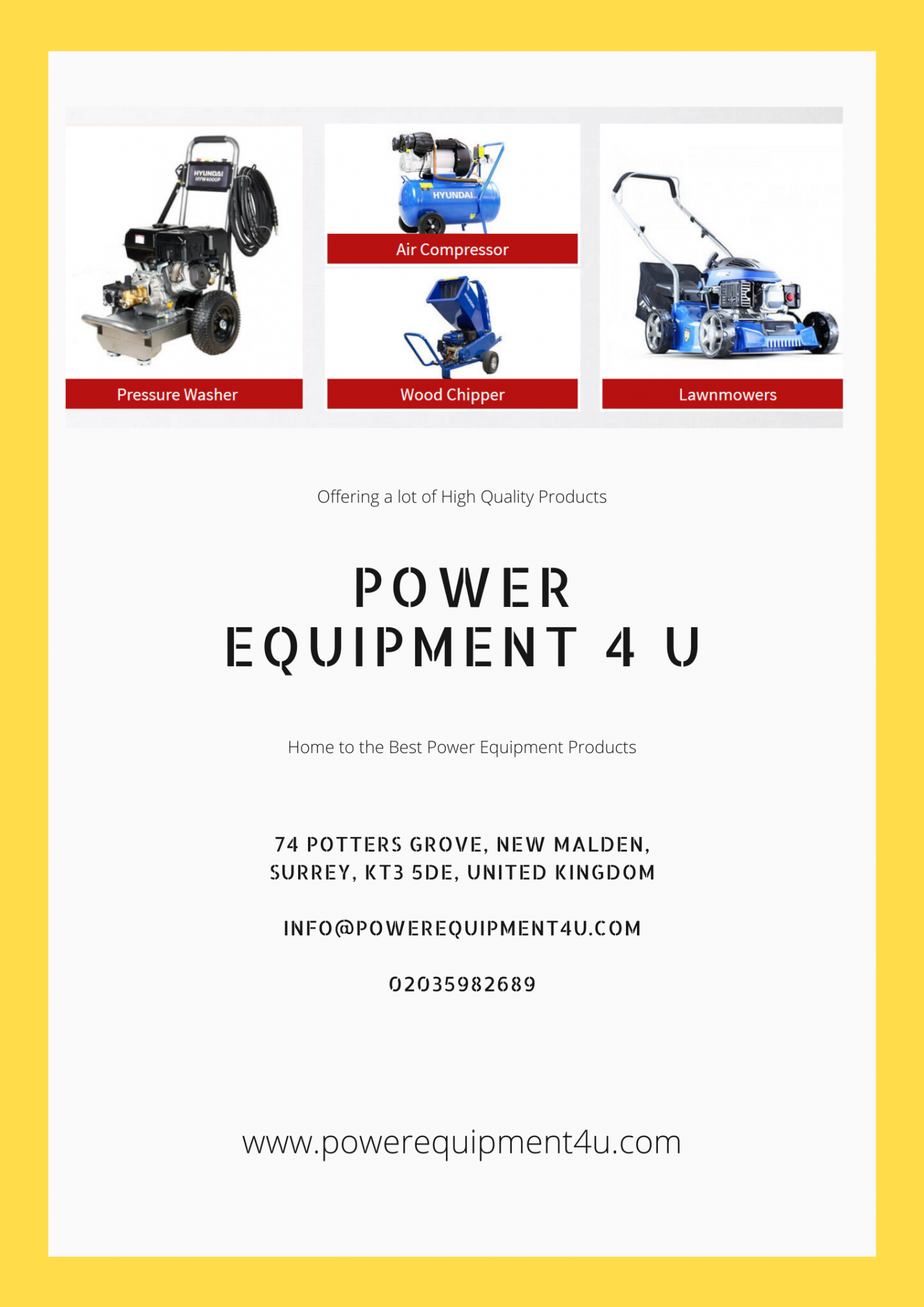 Best Quality Garden and Construction Equipment in UK Infographic