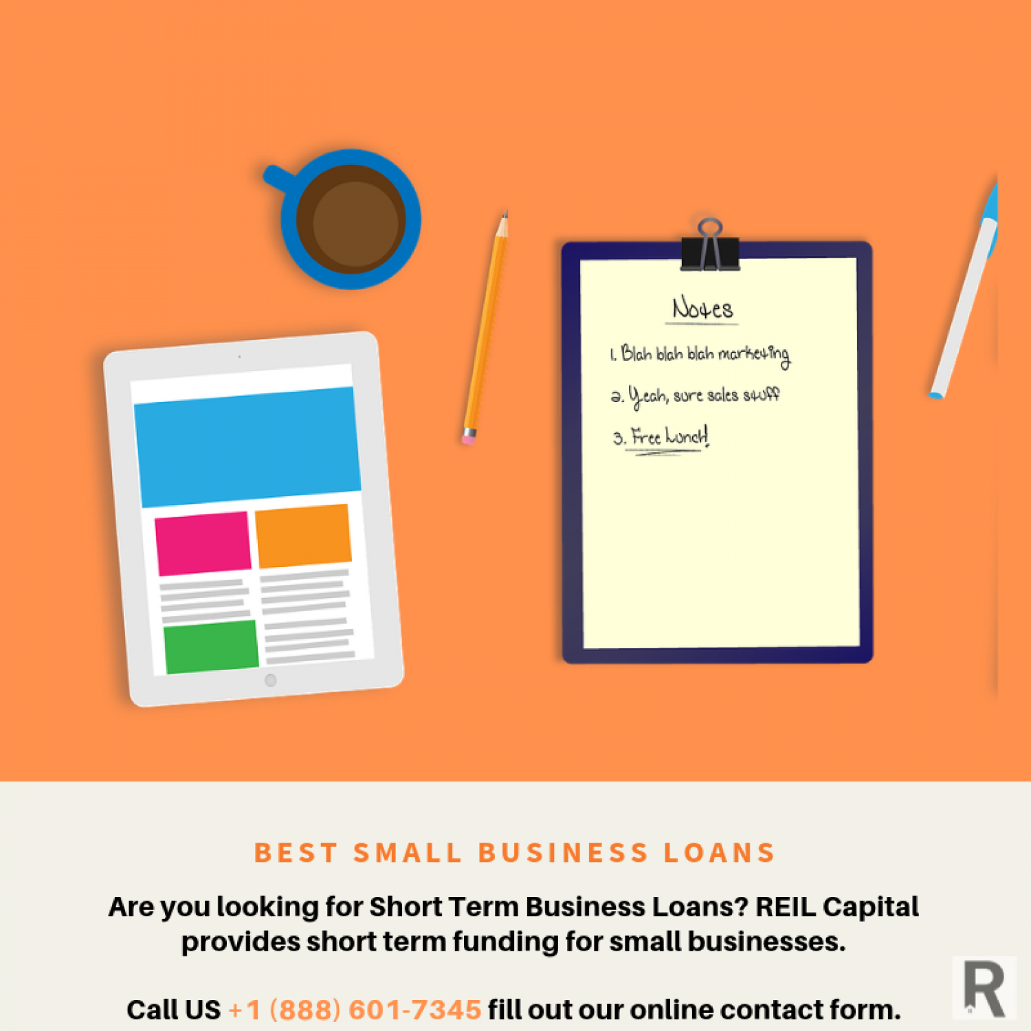 Best Short-Term Small Business Loans for 2019 Infographic